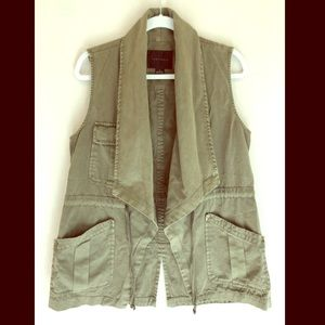 Anthropology Army Green Vest